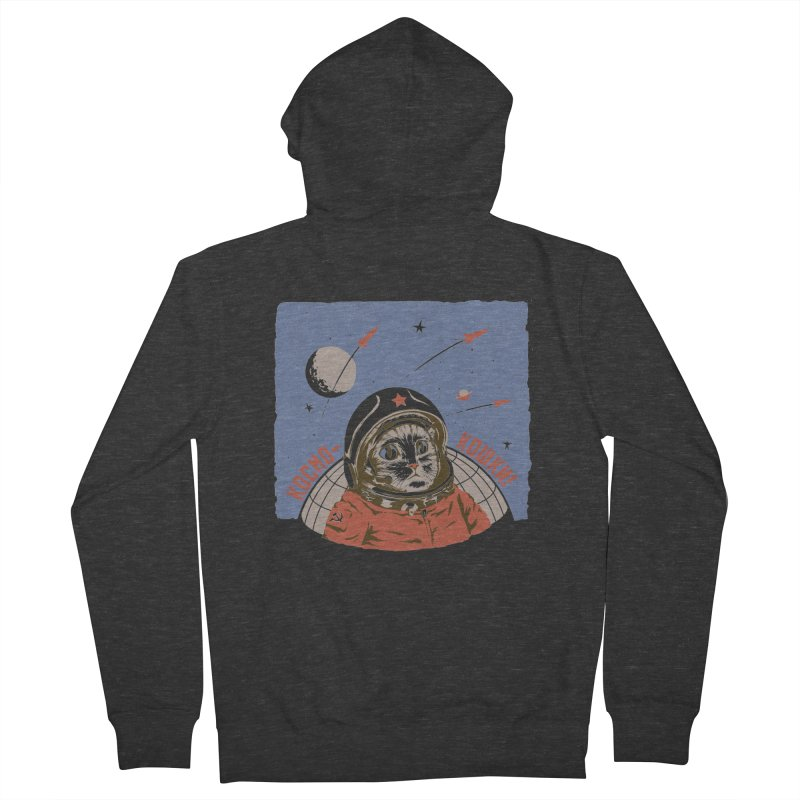 Soviet Space Cat Men's Zip-Up Hoody by sketchboy01's Artist Shop