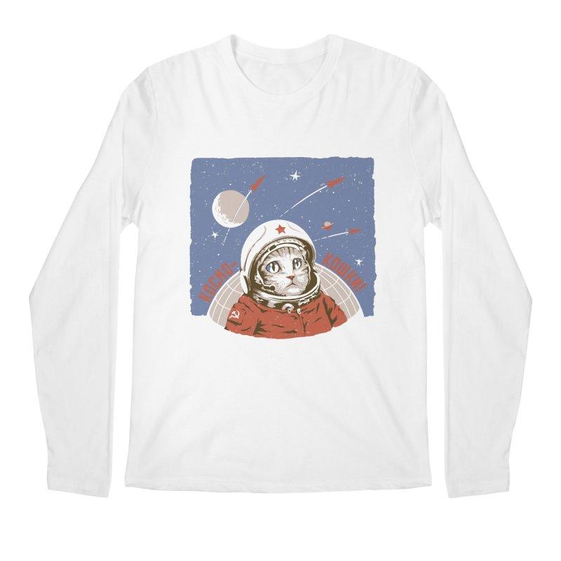 Soviet Space Cat Men's Longsleeve T-Shirt by sketchboy01's Artist Shop