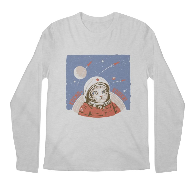 Soviet Space Cat Men's Longsleeve T-Shirt by sketchboy01's Artist Shop