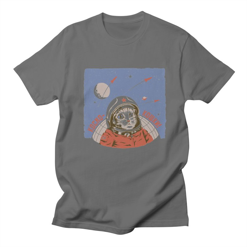 Soviet Space Cat Men's T-Shirt by sketchboy01's Artist Shop