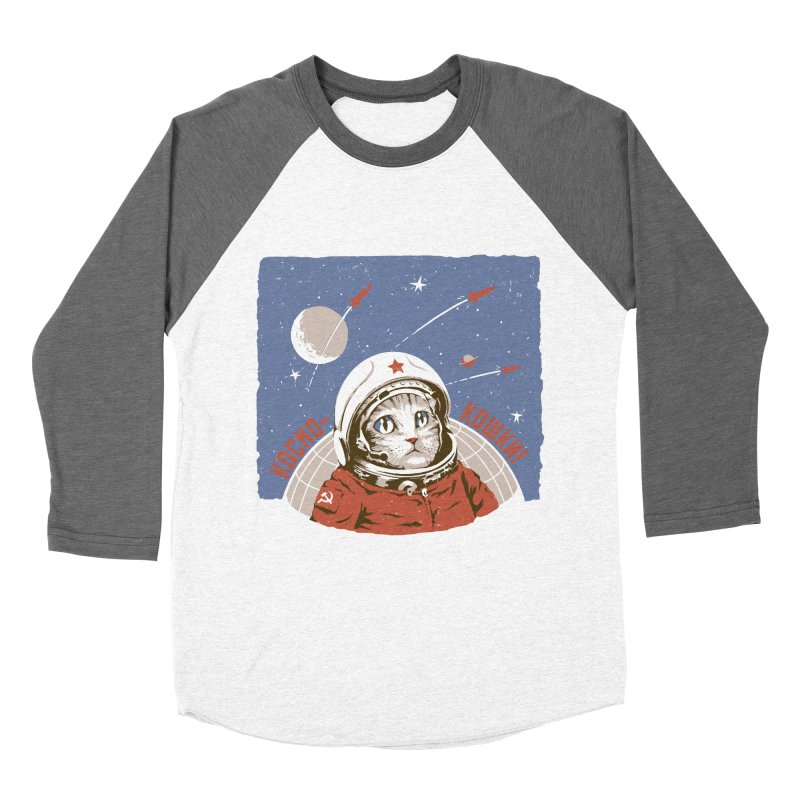 Soviet Space Cat Women's Baseball Triblend T-Shirt by sketchboy01's Artist Shop