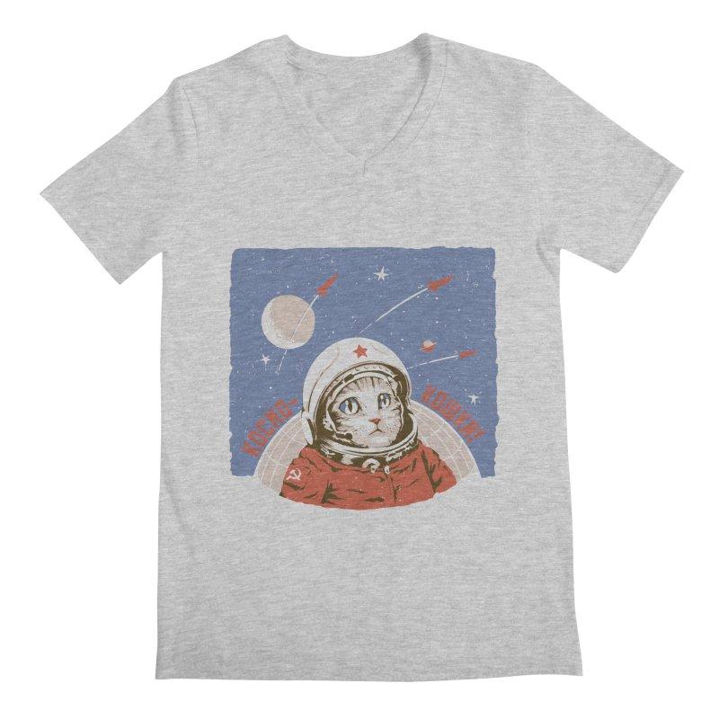 Soviet Space Cat Men's V-Neck by sketchboy01's Artist Shop