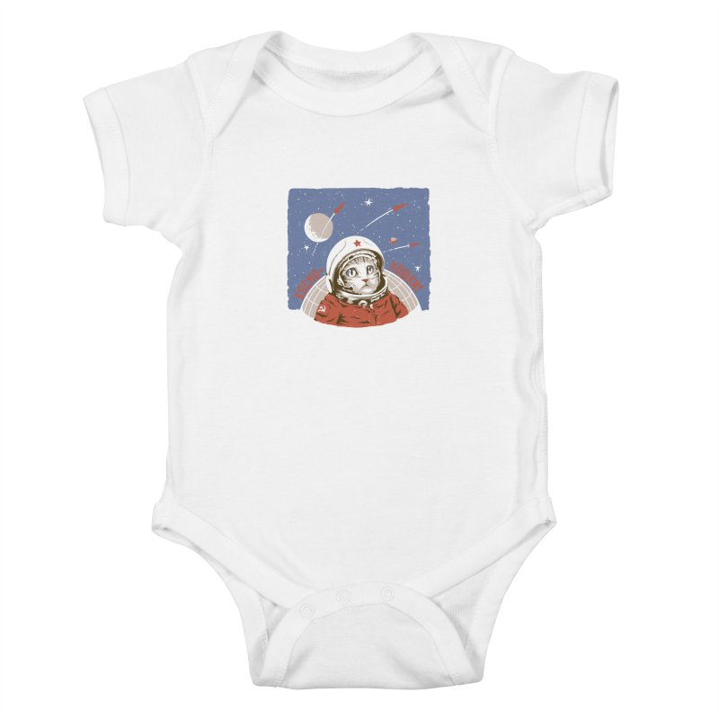Soviet Space Cat Kids Baby Bodysuit by sketchboy01's Artist Shop