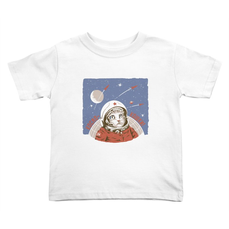 Soviet Space Cat Kids Toddler T-Shirt by sketchboy01's Artist Shop
