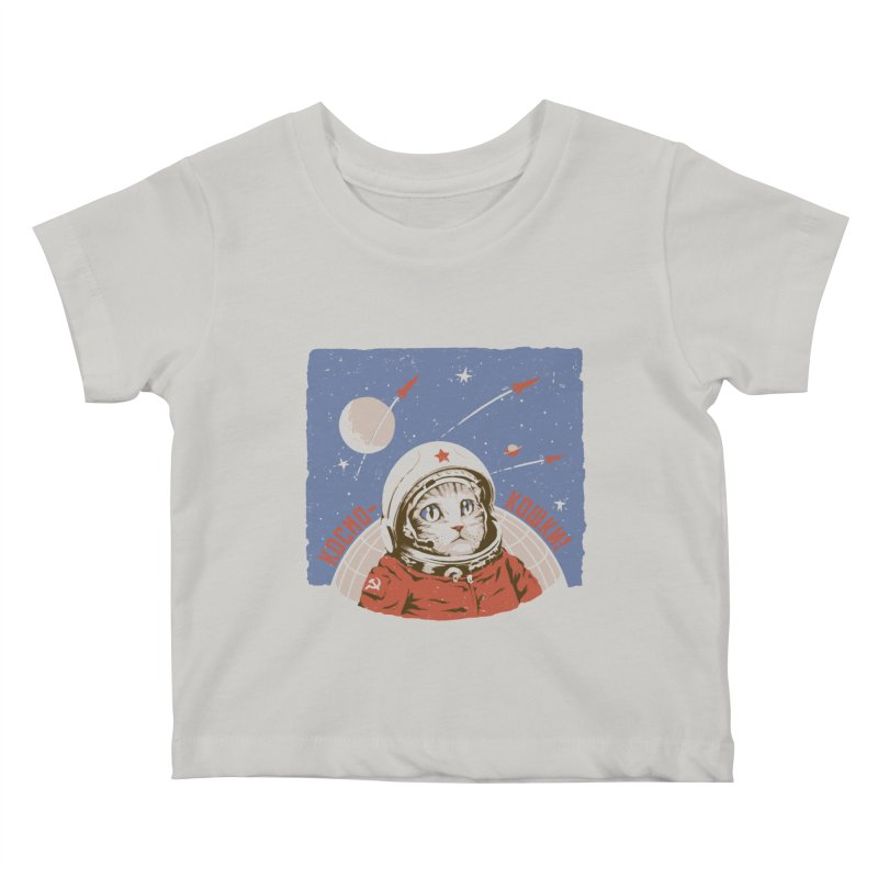 Soviet Space Cat Kids Baby T-Shirt by sketchboy01's Artist Shop