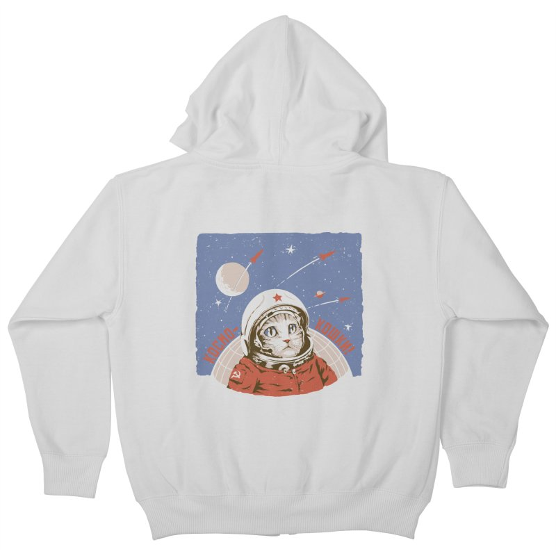 Soviet Space Cat Kids Zip-Up Hoody by sketchboy01's Artist Shop