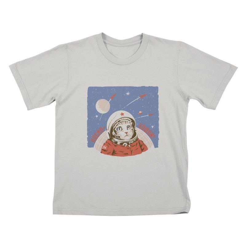 Soviet Space Cat Kids T-Shirt by sketchboy01's Artist Shop