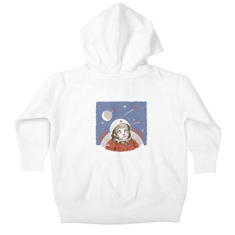 Soviet Space Cat Kids Baby Zip-Up Hoody by sketchboy01's Artist Shop