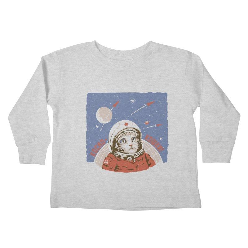 Soviet Space Cat Kids Toddler Longsleeve T-Shirt by sketchboy01's Artist Shop