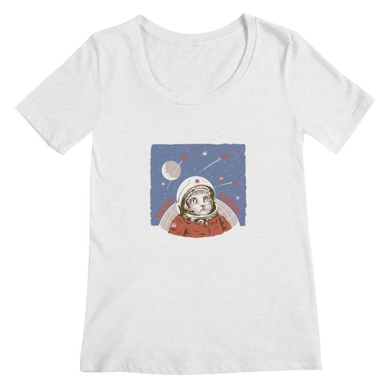 Soviet Space Cat Women's Scoopneck by sketchboy01's Artist Shop