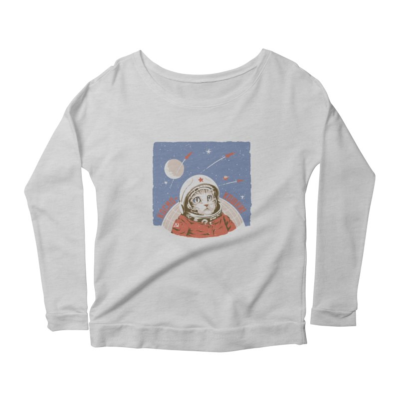 Soviet Space Cat Women's Longsleeve Scoopneck  by sketchboy01's Artist Shop