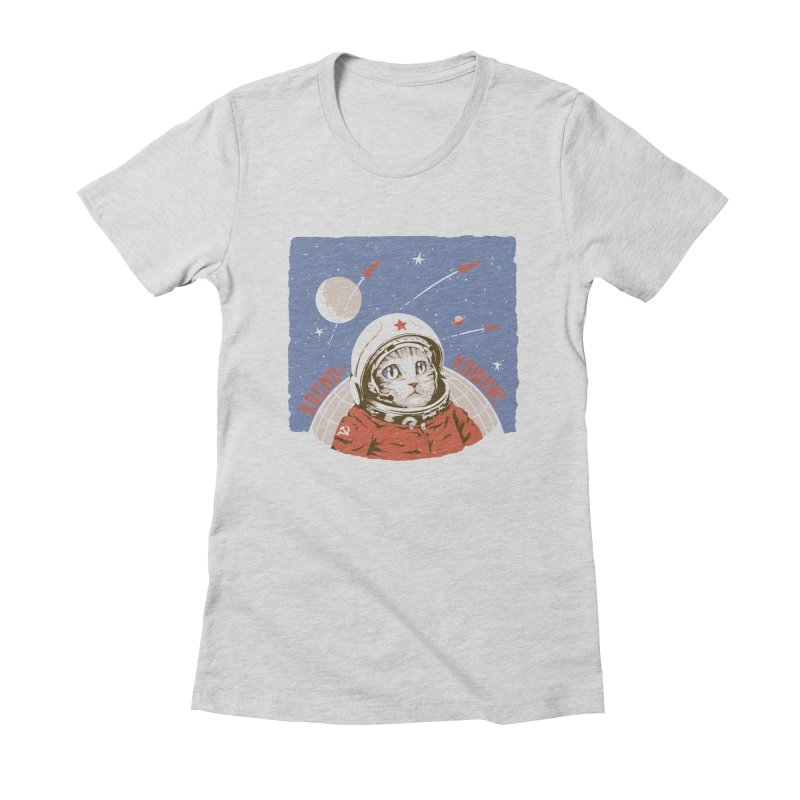 Soviet Space Cat Women's Fitted T-Shirt by sketchboy01's Artist Shop