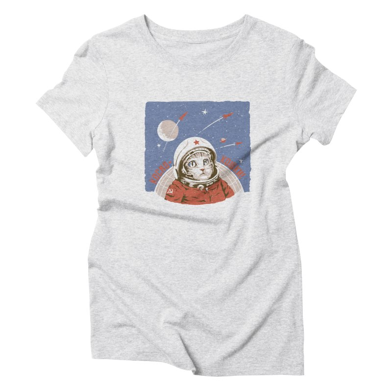 Soviet Space Cat Women's Triblend T-Shirt by sketchboy01's Artist Shop