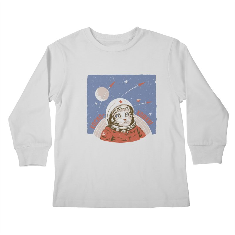Soviet Space Cat Kids Longsleeve T-Shirt by sketchboy01's Artist Shop
