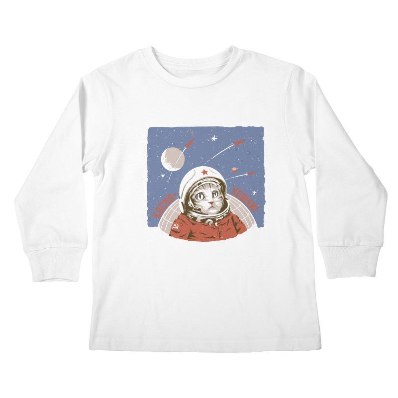 Soviet Space Cat Kids Longsleeve T-Shirt by sketchboy01's Artist Shop
