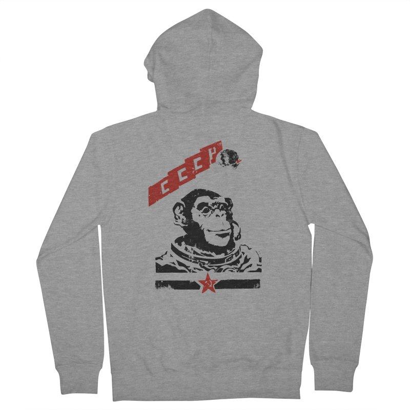 Soviet Space Monkey Women's Zip-Up Hoody by sketchboy01's Artist Shop