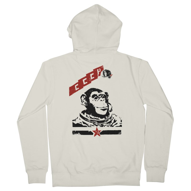 Soviet Space Monkey Women's Zip-Up Hoody by sketchboy01's Artist Shop
