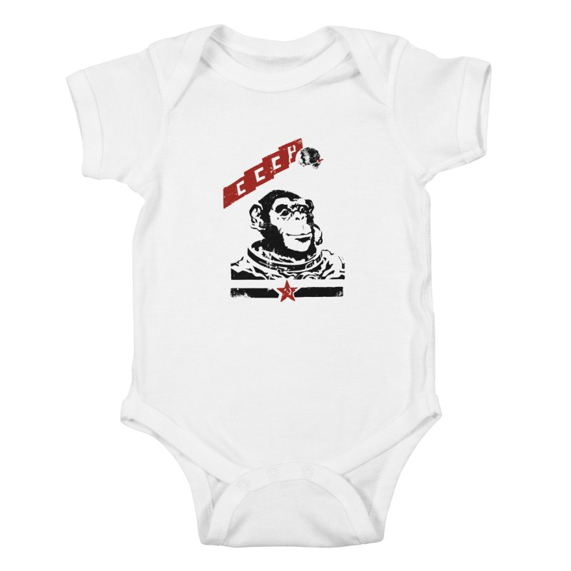 Soviet Space Monkey Kids Baby Bodysuit by sketchboy01's Artist Shop