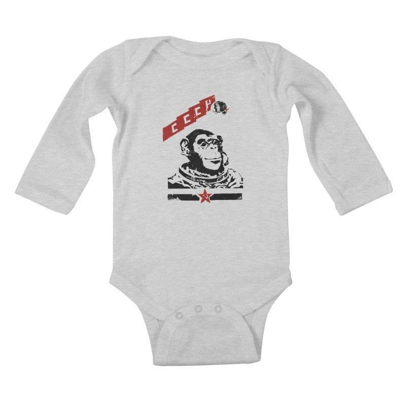 Soviet Space Monkey Kids Baby Longsleeve Bodysuit by sketchboy01's Artist Shop