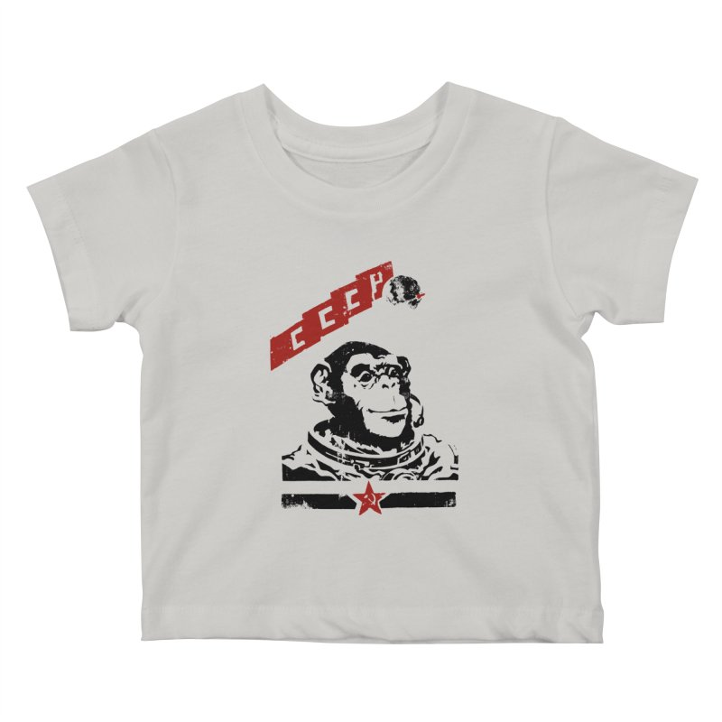 Soviet Space Monkey Kids Baby T-Shirt by sketchboy01's Artist Shop