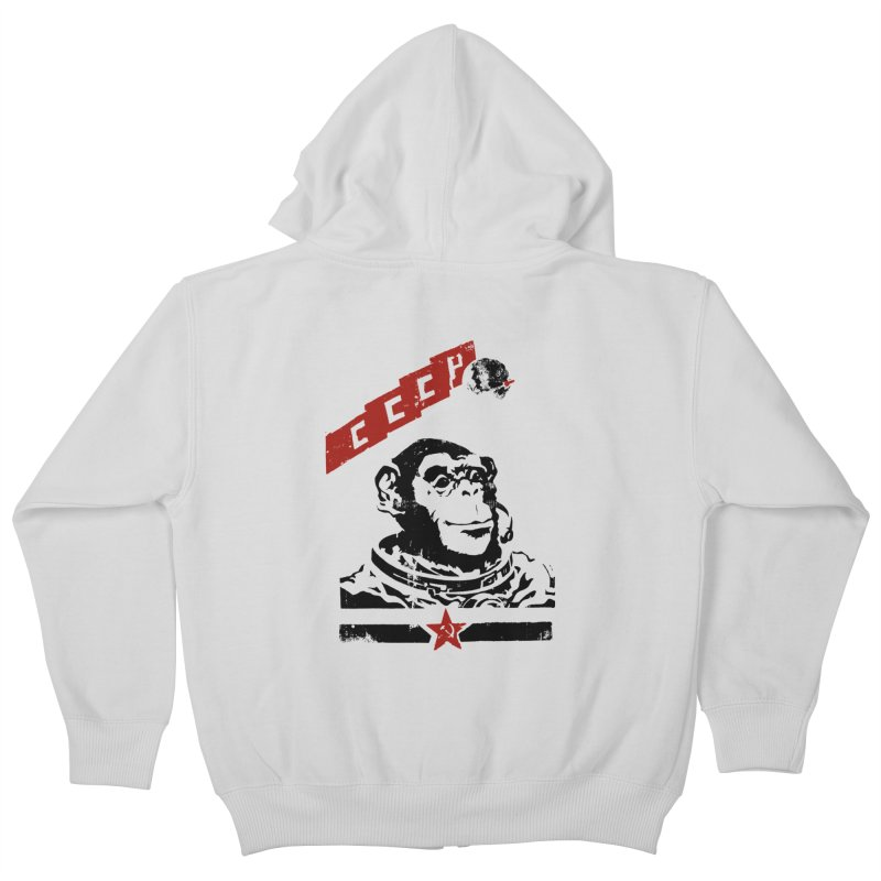 Soviet Space Monkey Kids Zip-Up Hoody by sketchboy01's Artist Shop