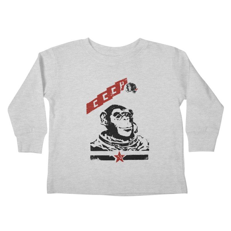 Soviet Space Monkey Kids Toddler Longsleeve T-Shirt by sketchboy01's Artist Shop