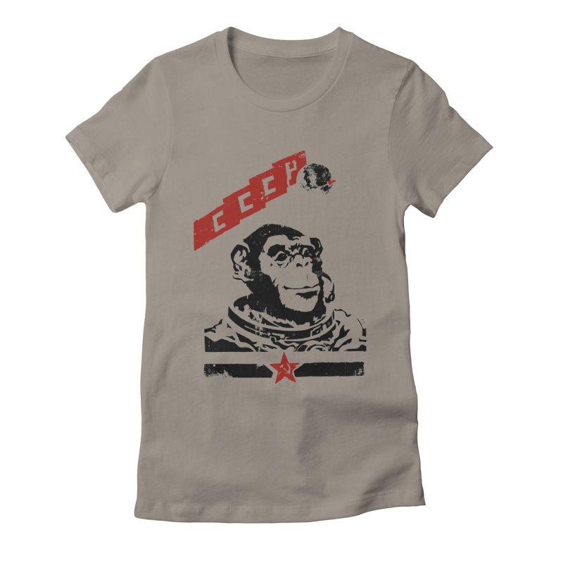Soviet Space Monkey Women's Fitted T-Shirt by sketchboy01's Artist Shop