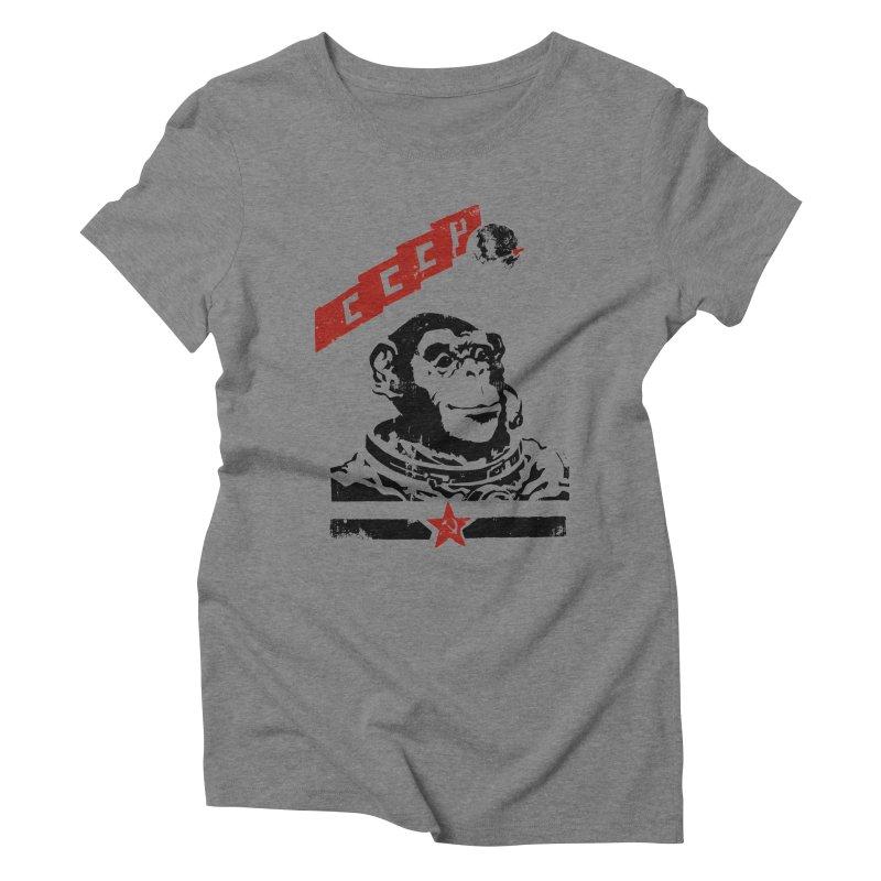 Soviet Space Monkey Women's Triblend T-Shirt by sketchboy01's Artist Shop