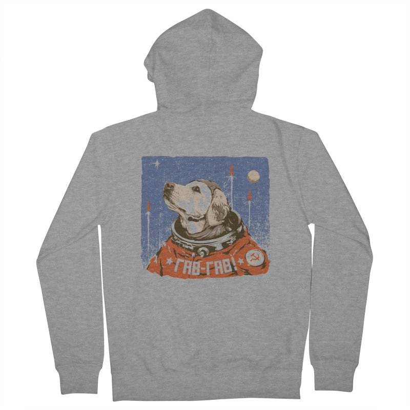 Soviet Space Dog Women's Zip-Up Hoody by sketchboy01's Artist Shop