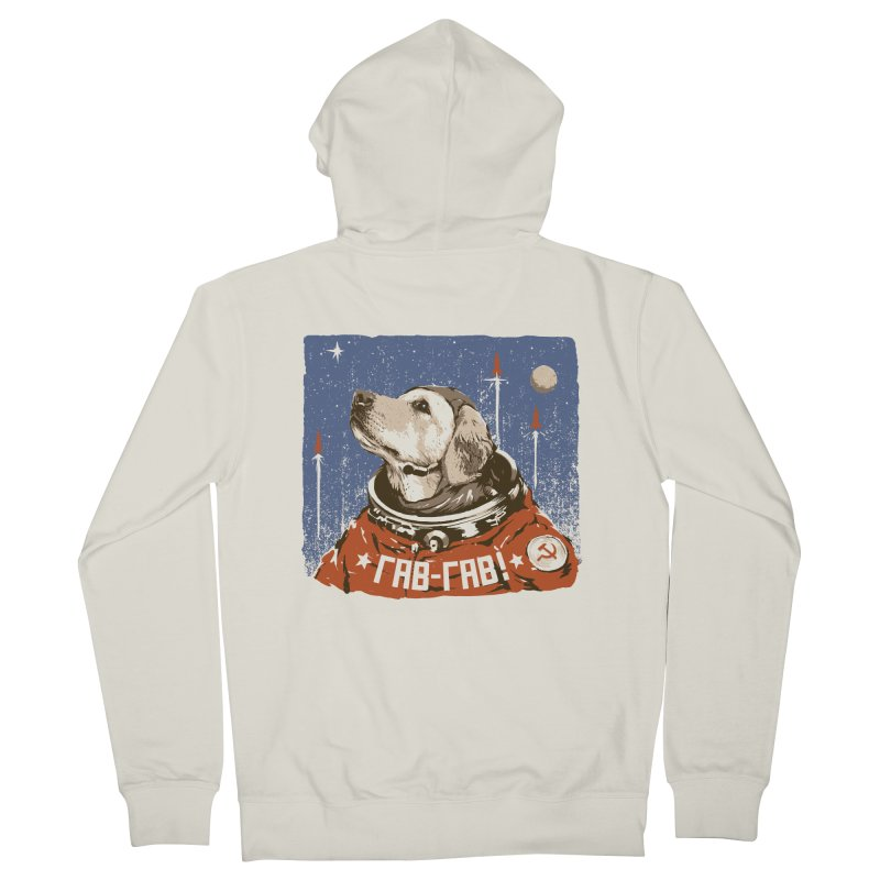 Soviet Space Dog Men's Zip-Up Hoody by sketchboy01's Artist Shop