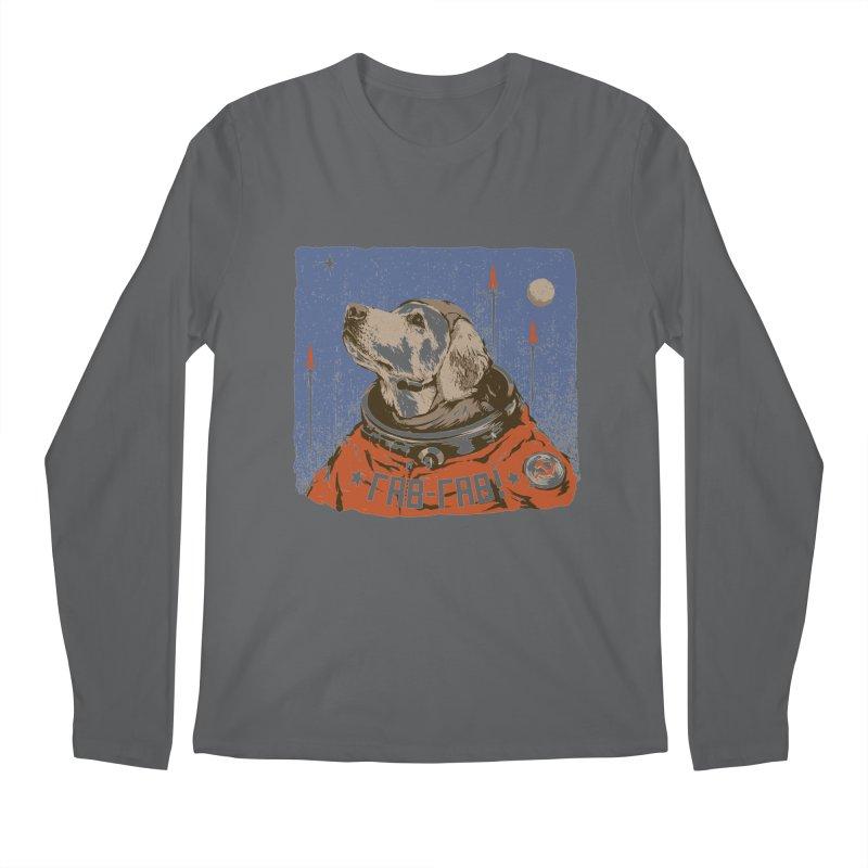 Soviet Space Dog Men's Longsleeve T-Shirt by sketchboy01's Artist Shop