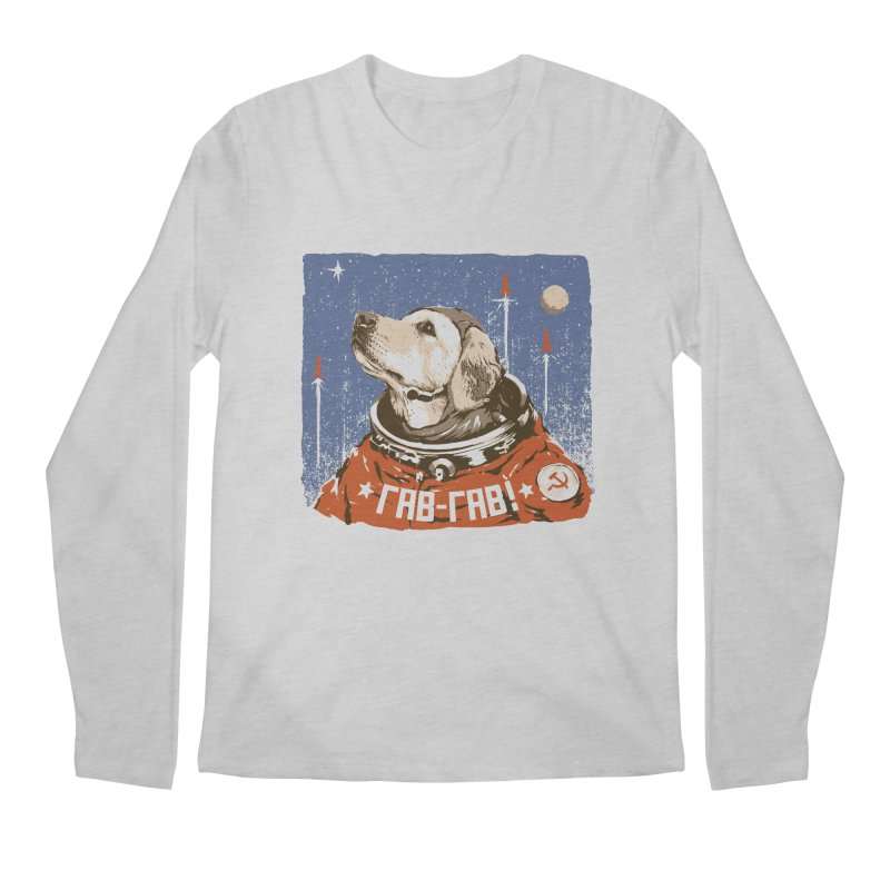 Soviet Space Dog Men's Longsleeve T-Shirt by sketchboy01's Artist Shop