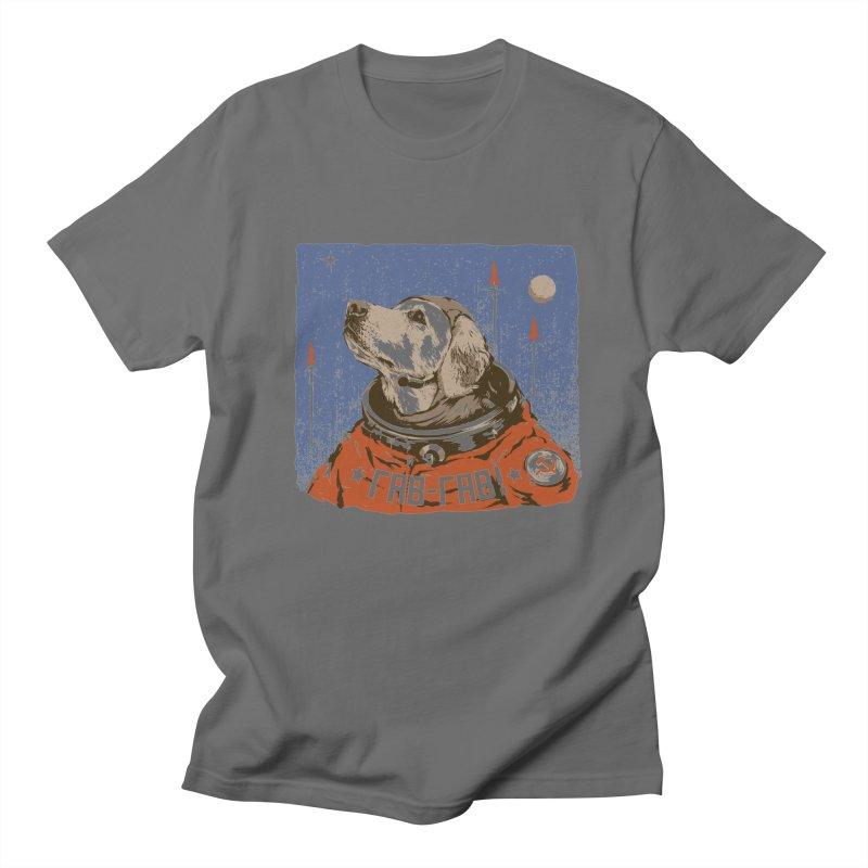 Soviet Space Dog Men's T-shirt by sketchboy01's Artist Shop