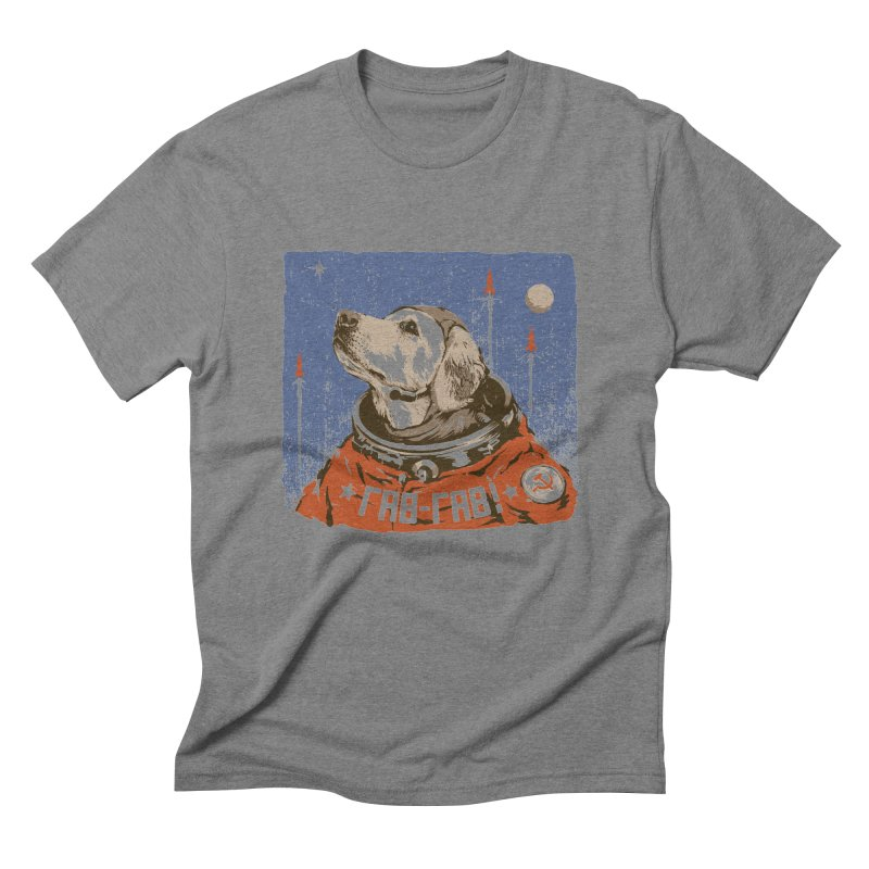 Soviet Space Dog Men's Triblend T-shirt by sketchboy01's Artist Shop