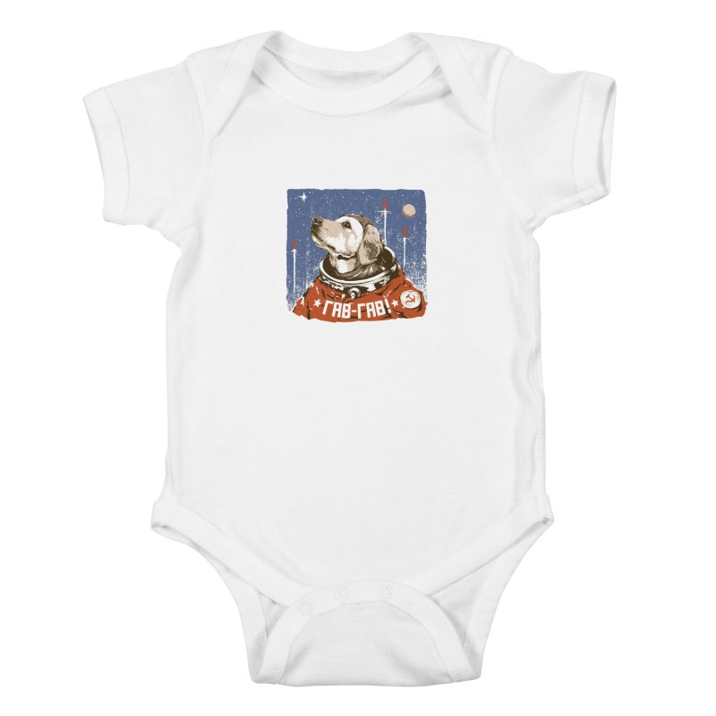 Soviet Space Dog Kids Baby Bodysuit by sketchboy01's Artist Shop