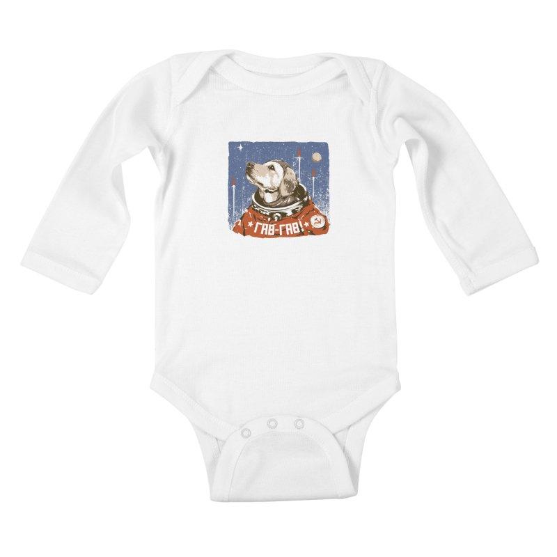 Soviet Space Dog Kids Baby Longsleeve Bodysuit by sketchboy01's Artist Shop
