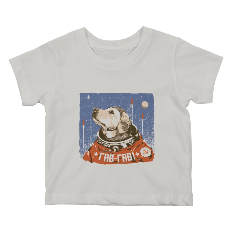 Soviet Space Dog Kids Baby T-Shirt by sketchboy01's Artist Shop