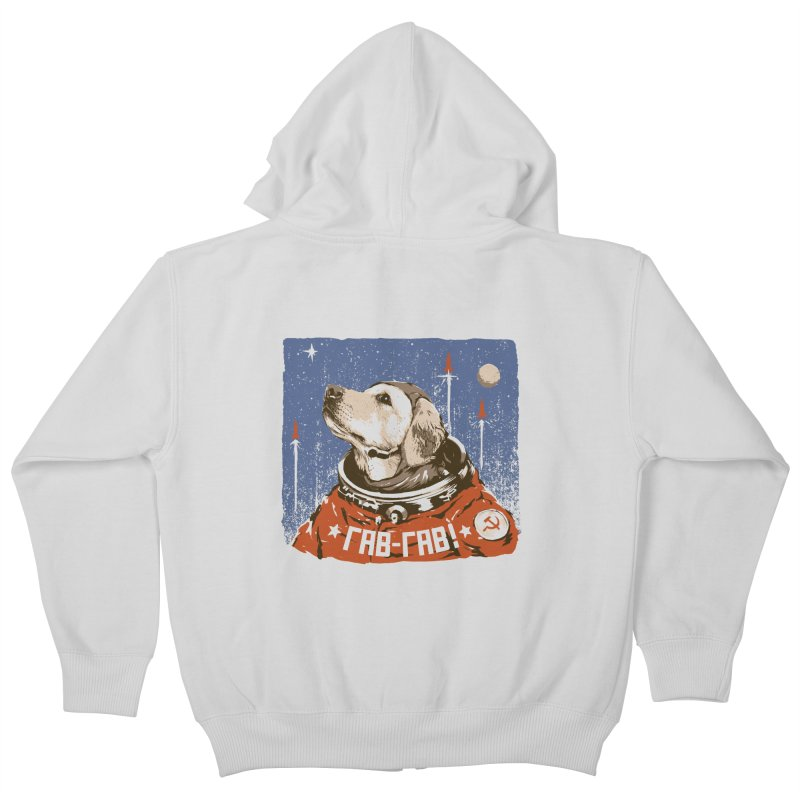 Soviet Space Dog Kids Zip-Up Hoody by sketchboy01's Artist Shop