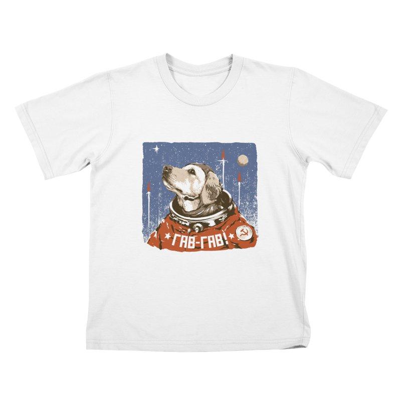 Soviet Space Dog Kids T-Shirt by sketchboy01's Artist Shop