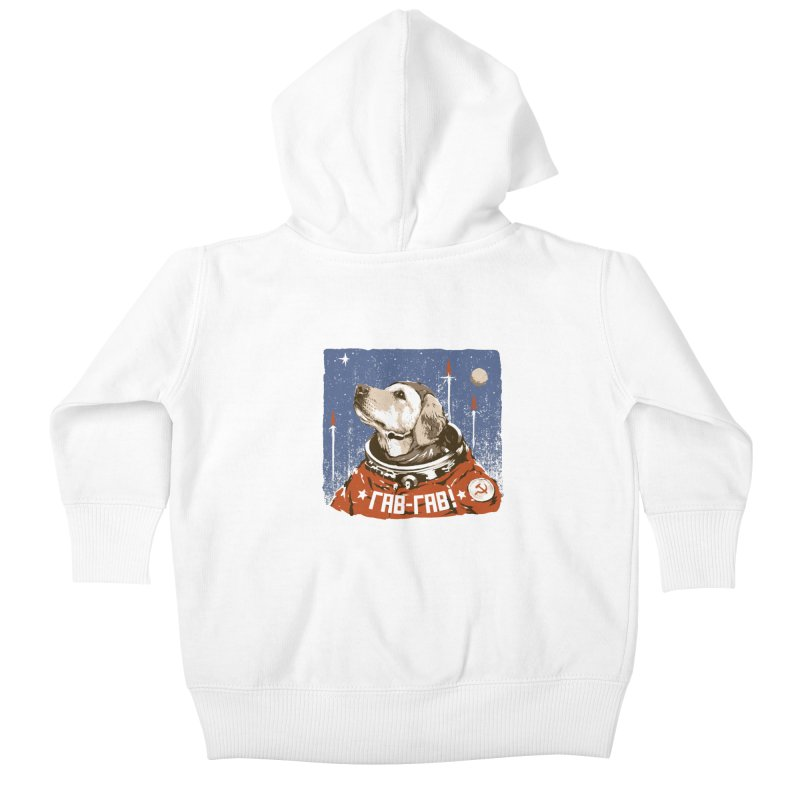 Soviet Space Dog Kids Baby Zip-Up Hoody by sketchboy01's Artist Shop