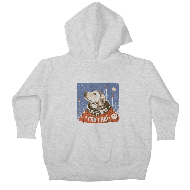 Soviet Space Dog Kids Baby Zip-Up Hoody by sketchboy01's Artist Shop