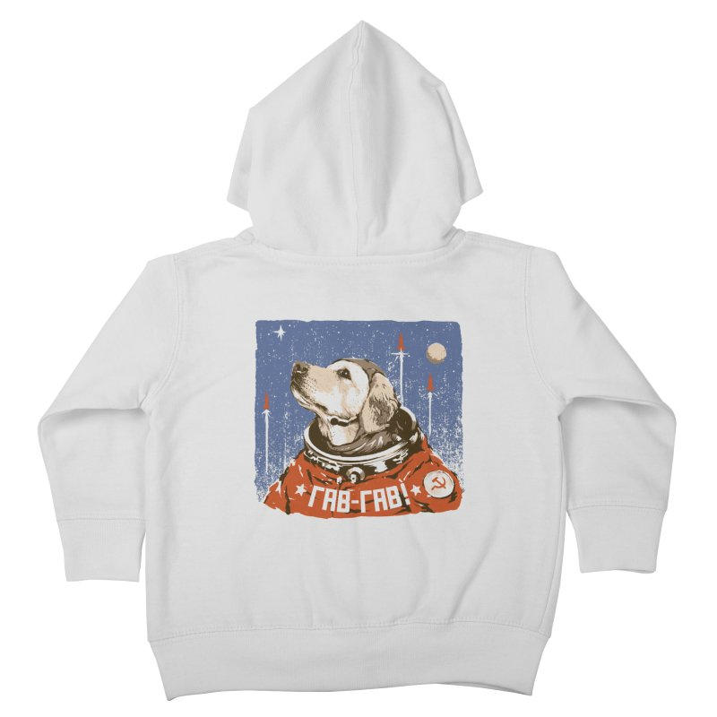 Soviet Space Dog Kids Toddler Zip-Up Hoody by sketchboy01's Artist Shop