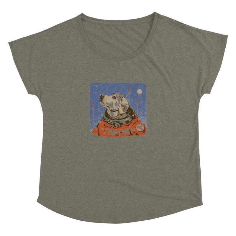 Soviet Space Dog Women's Dolman by sketchboy01's Artist Shop