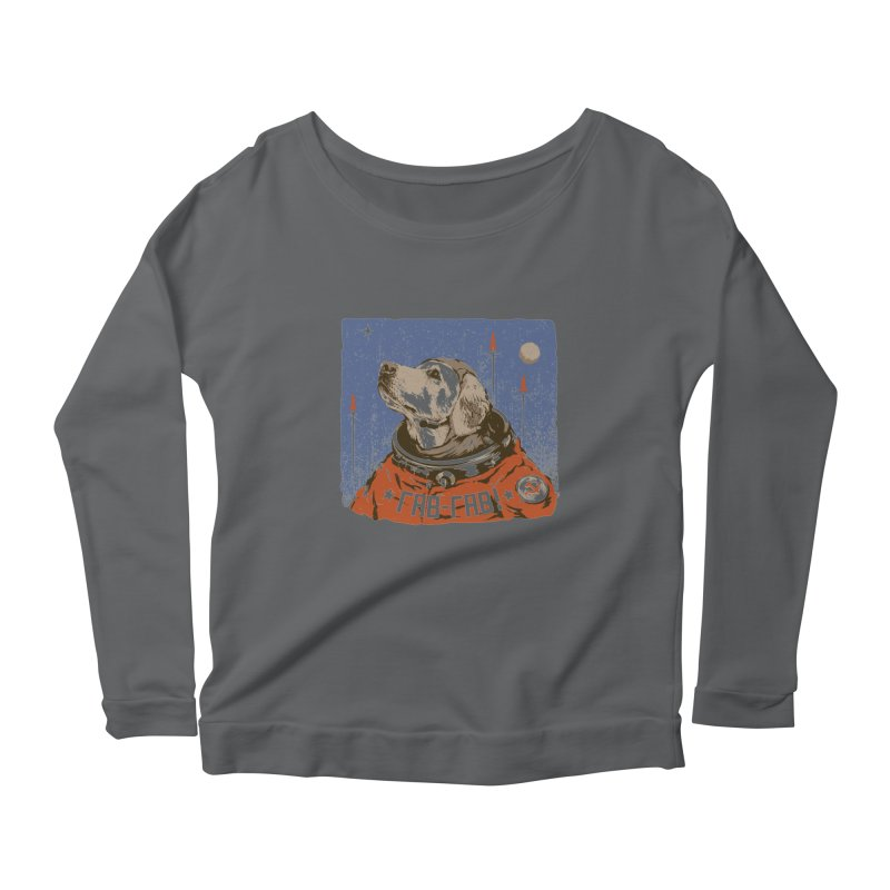 Soviet Space Dog Women's Longsleeve Scoopneck  by sketchboy01's Artist Shop