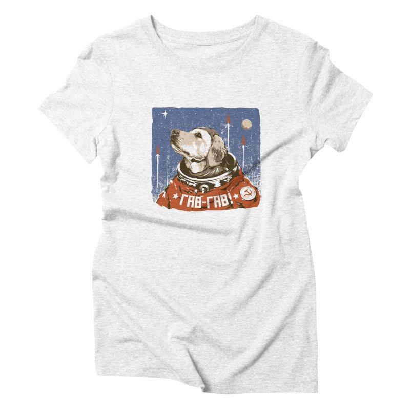 Soviet Space Dog Women's Triblend T-shirt by sketchboy01's Artist Shop