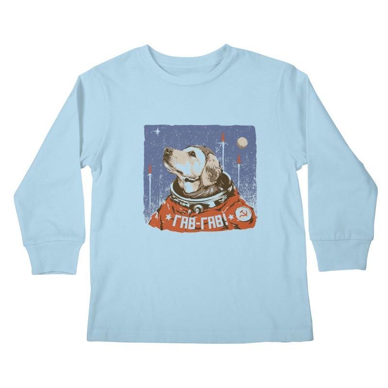 Soviet Space Dog Kids Longsleeve T-Shirt by sketchboy01's Artist Shop