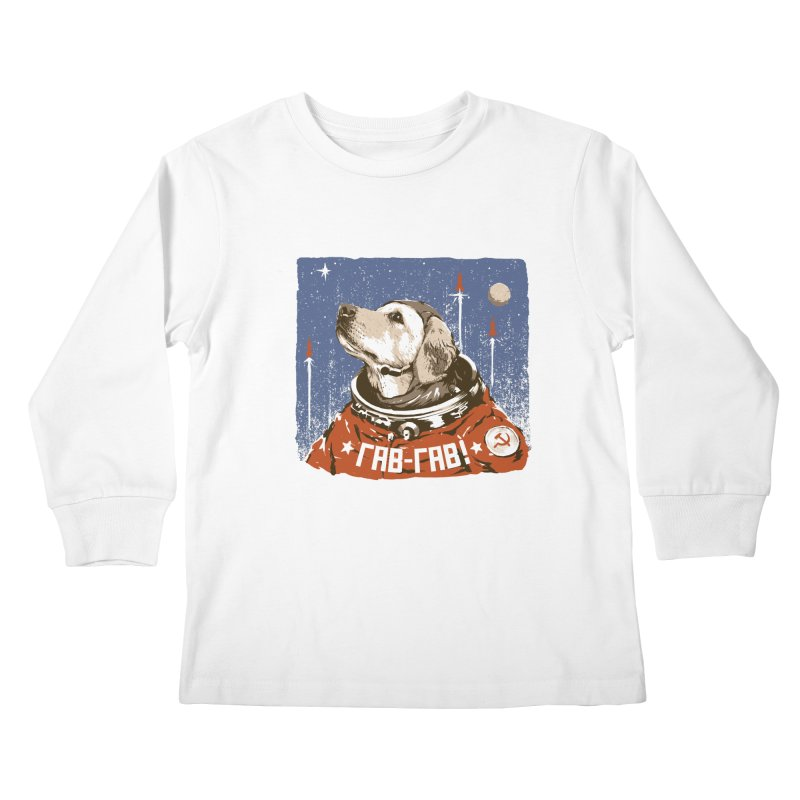 Soviet Space Dog Kids Longsleeve T-Shirt by sketchboy01's Artist Shop