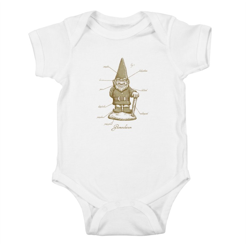 Gnomenclature Kids Baby Bodysuit by sketchboy01's Artist Shop