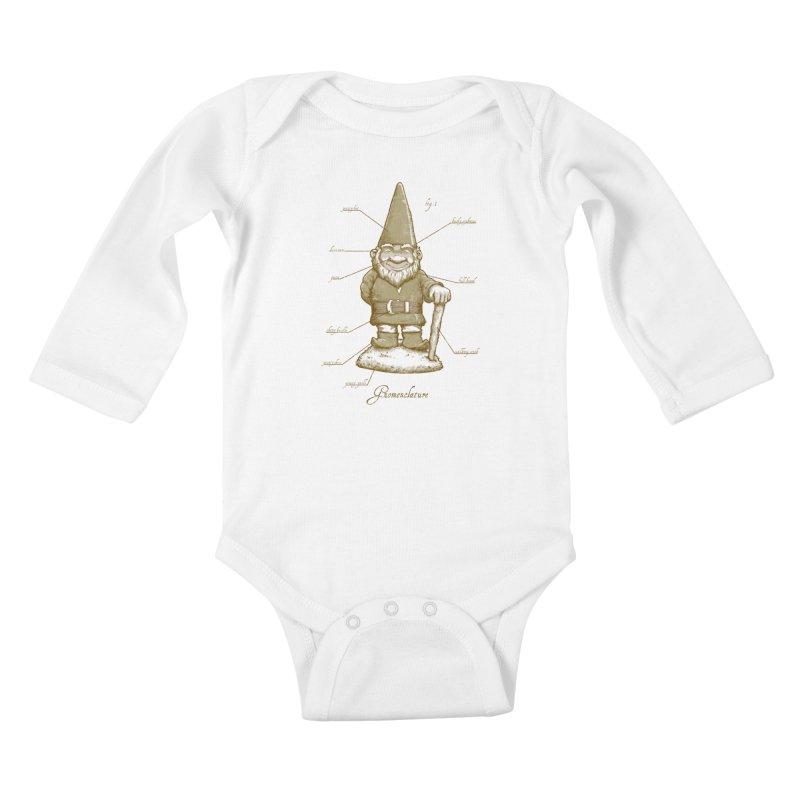 Gnomenclature Kids Baby Longsleeve Bodysuit by sketchboy01's Artist Shop