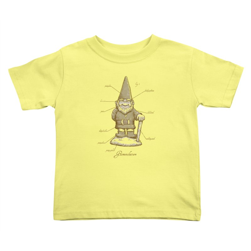 Gnomenclature Kids Toddler T-Shirt by sketchboy01's Artist Shop